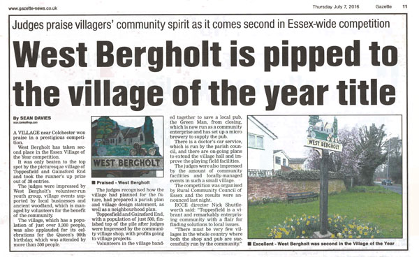 Gazette Village of the Year Article