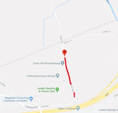 Section of Chitts Hill closed to replace Gas Mains