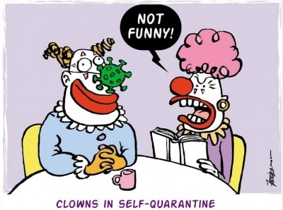 Clowns humour by Manny Francisco in Manila