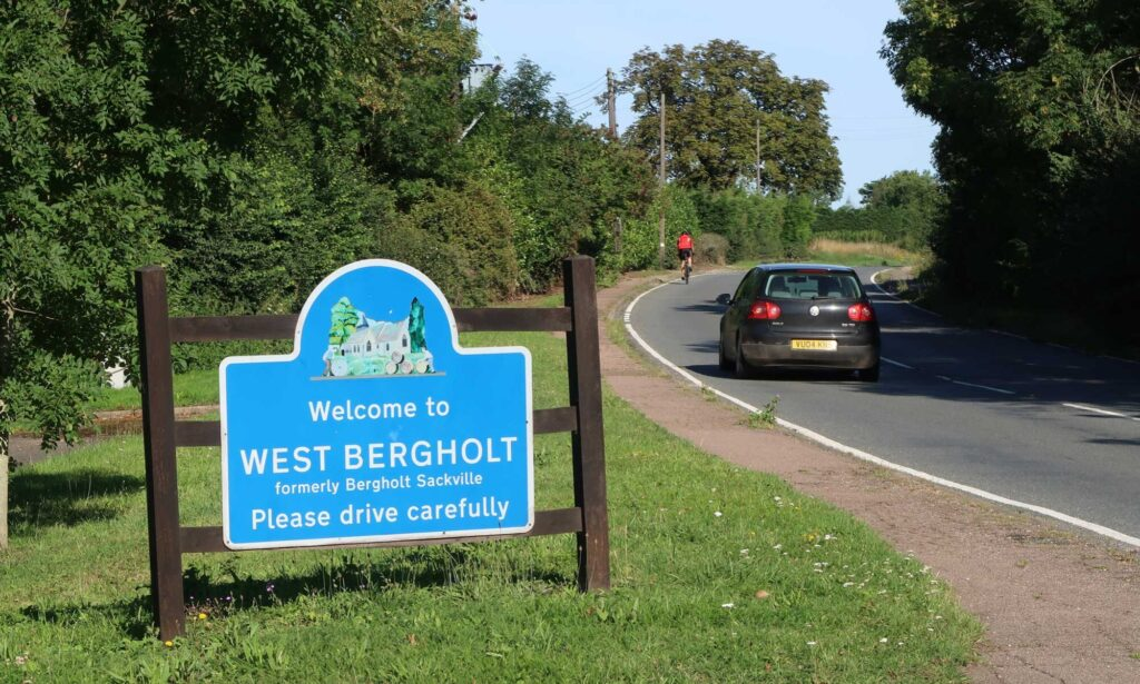 Welcome to West Bergholt sign