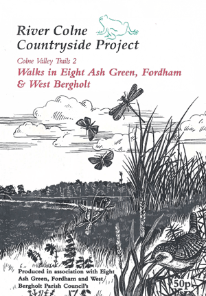 Original cover of the walks booklet featuring the Heath & Greens walk