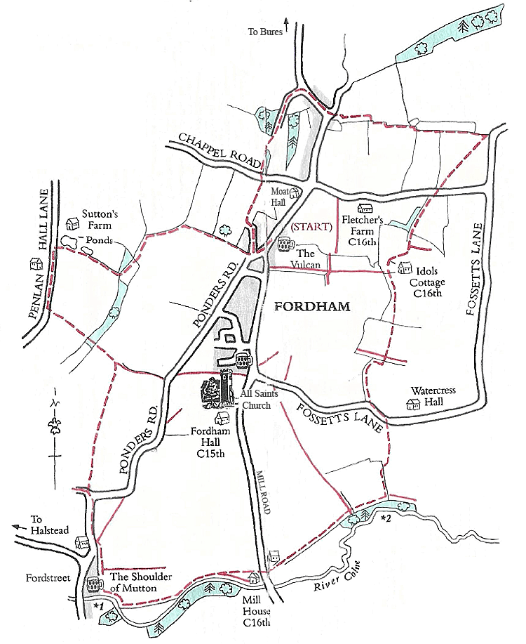 Map of Fordham Country Trail