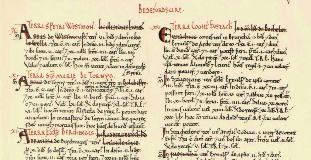 Extract from Domesday Book