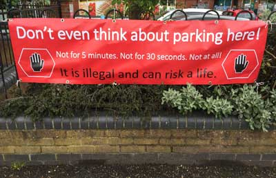 Seeing red with illegal parking